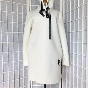White black heart 🖤 long hoodie